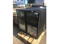 Double Door Black Bar Fridge / Bottle Drinks Chiller (Several available)