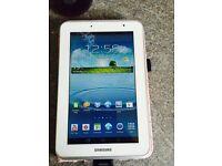 "White Samsung galaxy tab 2 7"""