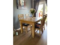 Extending Dining Table With Four Chairs