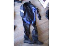"Scuba-diving neoprene drysuit, for slim male 6'1"" height, boot size 11"