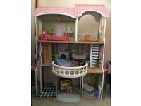 Kidkraft Wooden Dolls House with Original Furniture and Sounds