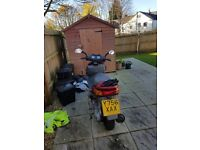 Red 125cc transeagle moped in good shape