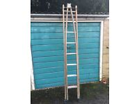 Wooden ladders with metal runners