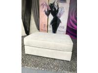 New Camden Fabric Footstool In Stone Ideal Home By Cavendish