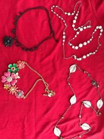 4 necklaces. £1 each