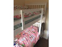 White Noa and Nani Bunk Beds + Mattresses