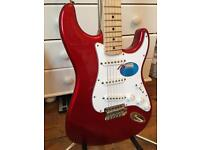 **AS NEW** Fender Standard Stratocaster Guitar – Candy Apple Red