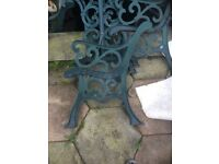 6 cast iron bench end at and 2 table ends