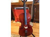 3/4 size old German cello