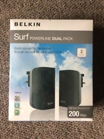 Belkin Surf Powerline Dual Pack - 200 Mbps (new)