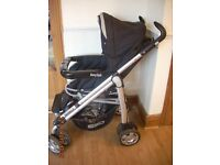 BABYSTYLE PRESTIGE LUX SBD 2-1 PRAM PUSHCHAIR, WITH RAINCOVER - COULD DELIVER WITHIN HULL AREA