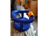 blue bath chair