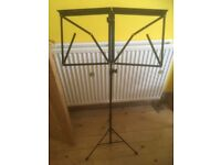 Music Stand Ideal for reading music while playing Flute, Guitar etc