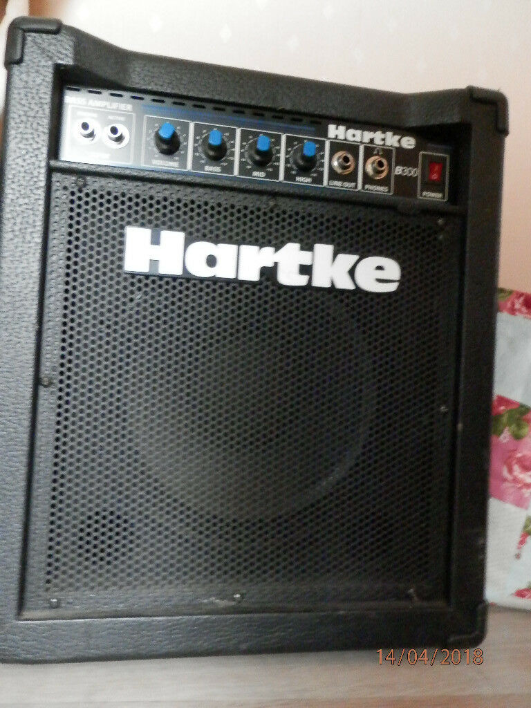 hartke bass guitar amp for sale perfect working order good condition model b300 30w amp in. Black Bedroom Furniture Sets. Home Design Ideas