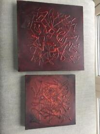 Wall art set x 2