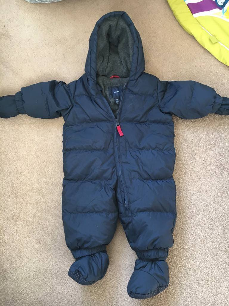 562186136 Baby Gap 0-6 months Feather & Down Pramsuit/Snowsuit | in Dalkeith ...