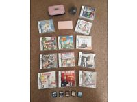 Pink Nintendo DS Lite with games