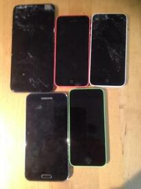 I phone and Samsung for spare or repair