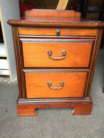 Solid wood bedside table in good condition