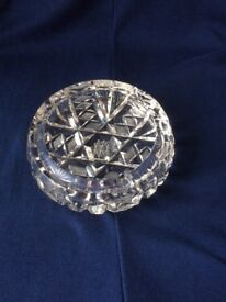 Beautiful 1960s crystal glass ashtray