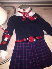 Girls Spanish skirt set