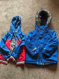2 BOYS COATS FROM NEXT, AGE 4 YEARS £10 FOR BOTH