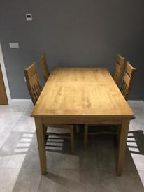 Good quality table and 6 chairs