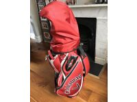 Callaway clubs, woods, driver, bag & Clicgear trolley