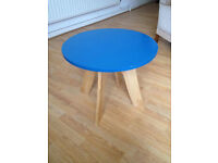 Just Like New Wooden Retro Styled Coffee Table In Teal Blue