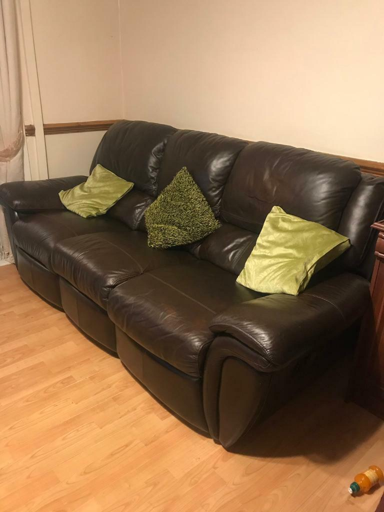 3 Seater Recliner Leather Sofa In Burnage Manchester Gumtree