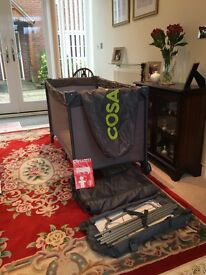Cosatto Travel Cot with bassinet and changing mat as new