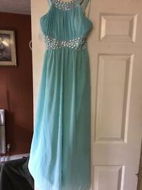 Turquoise blue prom dress