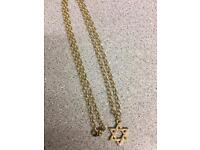 9ct gold chain n star pendant