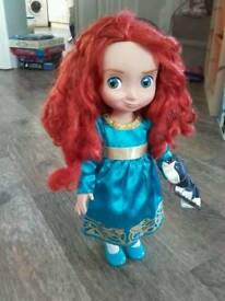 Disney Brave Items : Merida Doll, Figurine & Book