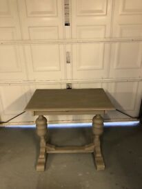 Small very solid small chalk painted dining table