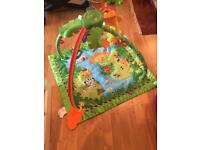 Fisher price jungle gym & mamas and papas cot mobile