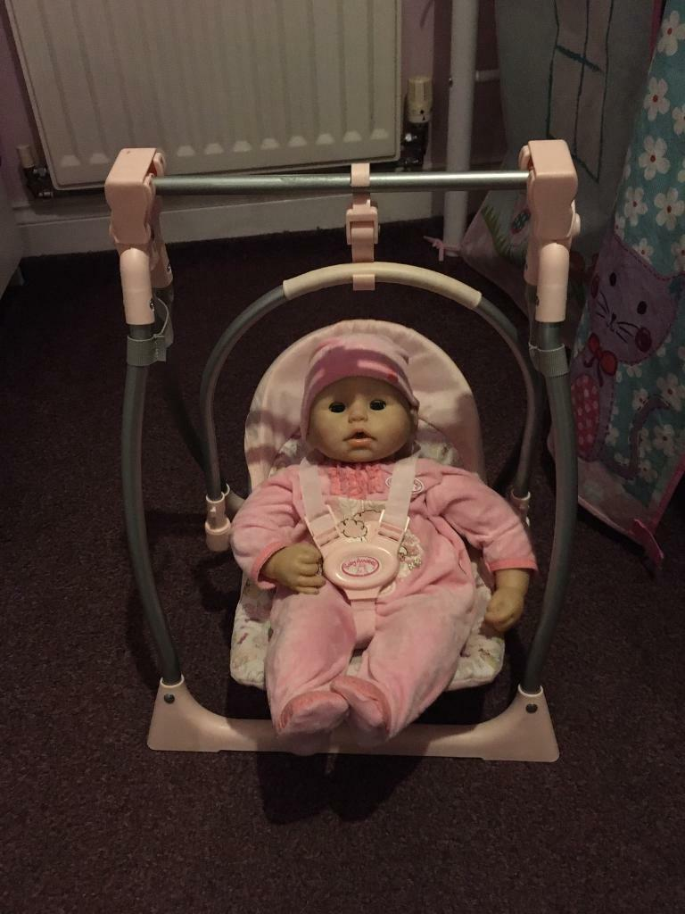 Baby Annabell doll and high chairswing | in Coatbridge, North Lanarkshire | Gumtree