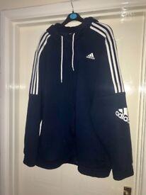 Adidas blue hoody XL