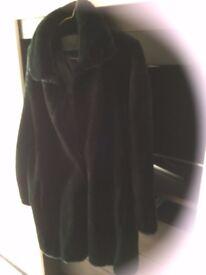 Brand new DARK BROWN fake fur coat Size 16/18