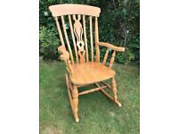 Really lovely solid wood rocking chair / armchair