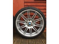 "From BMW 320i M Sport 2 x Bridgestone Potenza 19"" Runflat Tyres as new and M Sport Alloy."