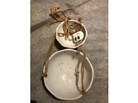 Ceramic two teir hanging basket