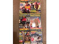 6 back issues of sea angler