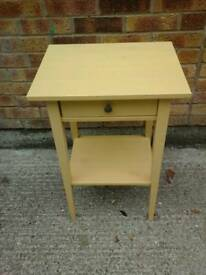 Nice tall cream occasional table