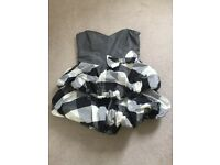 Black/grey/white checked mini dress (Size 38/40 EU)
