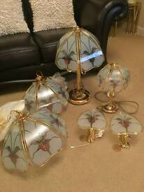 House lamps, gold plated,