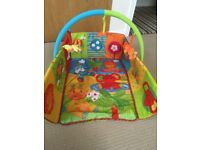 Mothercare Safari 2 in 1 baby play mat/gym. Good condition.