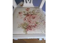 Vintage painted bedroom dressing table chair - shabby chic