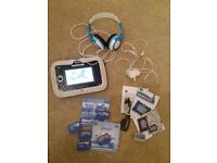 Vtech innotab 3s with 5 games, case, battery pack, charger and headphones blue