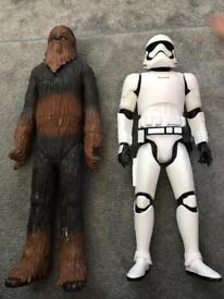 Star Wars figures chewbacca and stormtrooper